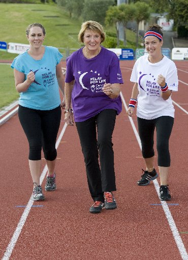 READY TO GO: Jane Beamsley (left) and Linda Farley from the Cancer Society, and Vallie Finlay from Cooks Gardens, are gearing up for the Relay For Life on March 16. PHOTO/RAE CLIFFE