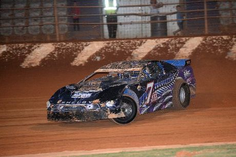 Brent Emerson in action at Baypark with his new Lovelady Race Cars Shelby Mustang super saloon car.