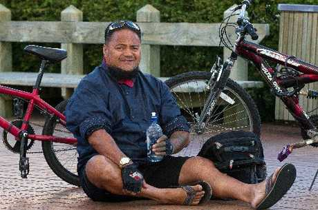 William Taki was one of those who took part in Go by Bike Day.