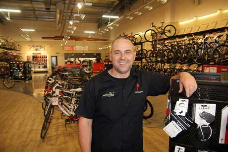 HOT SPOT: Chain Reaction Cycles owner Darryn Giles is excited to be part of the new retail precinct in Moorhouse Ave.