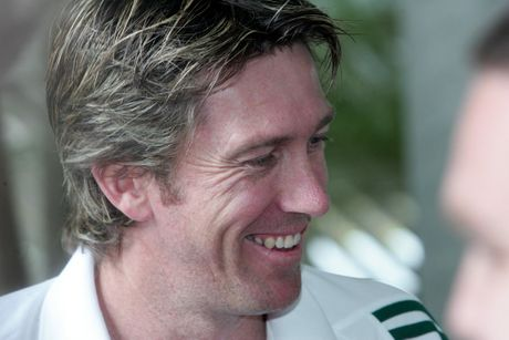 Glenn McGrath&#39;s worst injury came from stepping on a ball during a warm up.