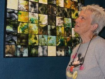 NSA secretary Elizabeth Fuge with the Northland Art Awards winning piece by Barbara O'Sullivan.