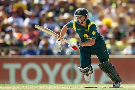 George Bailey of Australia bats during game two of the Commonwealth Bank One Day International Series between Australia and the West Indies at WACA on February 3, 2013 in Perth, Australia.