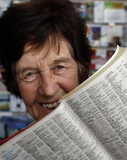 EASIER TO READ: Beryl Wilkinson has welcomed a bigger font telephone directory.