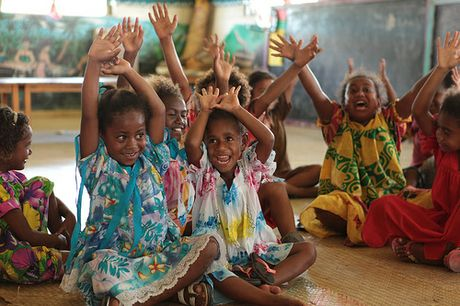 P & O Cruises has paired with Save the Children to make a difference in communities all over Vanuatu.