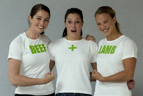 Sarah Walker, Sophie Pascoe and Lisa Carrington during their Beef & Lamb studio photo shoot