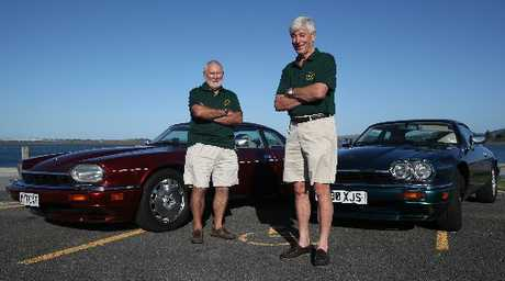 Members of the Bay of Plenty Jaguar Enthusiasts' Club, John Broom (left) and president Graham Beaumont, will be taking part in the Great British Car Rally this Sunday.