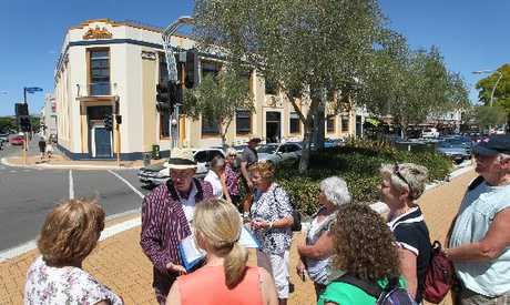 Art Deco tour around Hastings CBD, by Michael Fowler, Hawke's Bay historian, pictured on Russell St North, Hastings.