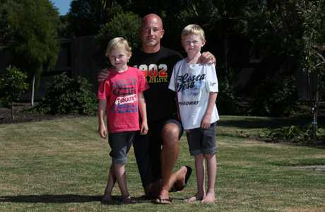 Papamoa resident Robert Clark with sons Elliot, 6 (left), and Cameron, 8, raised concerns about how Papamoa residents would escape a tsunami once the new Tauranga Eastern Link was built.