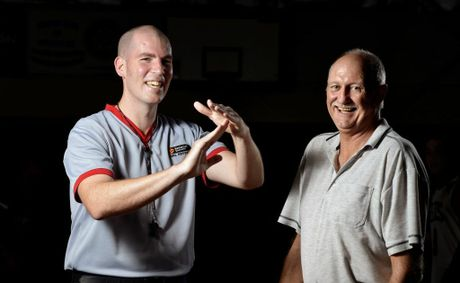 TIME OUT: Basketball referee Clayton McAndrew has been selected to referee the U20 National Ivor Burge Championships in Launceston, Tasmania. Alan Basford is retiring from refereeing at a senior level. Photo: Claudia Baxter / The Queensland Times