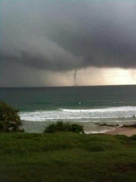 Waterspout off Cabarita Beach.