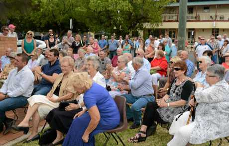 Part of the crowd at the opening of the Allora Sports Museum on Saturday.