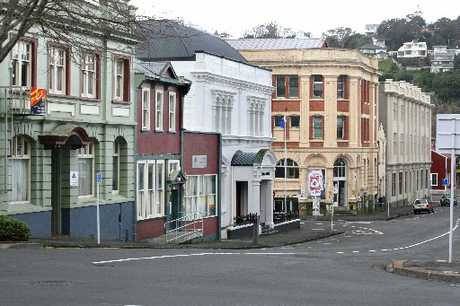 QUAKE RISK: Heritage buildings in Drews Ave looking down towards Taupo Quay, Wanganui.PHOTO/FILE