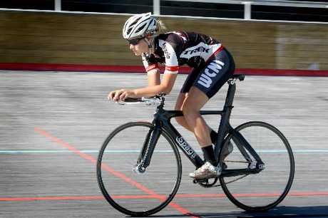 THE ROAD TO RIO: Wanganui cyclist Cassie Cameron at the River City Wheelrace Carnival at the Wanganui Velodrome on Saturday. PHOTO/BEVAN CONLEY 160213WCBRCCY01