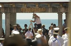 The Veronic Sunbay's tribute to armed services which helped in the wake of the 1931 Hawke's Bay earthquake, including HMS Veronica, the bell of which hung in the sunbay.