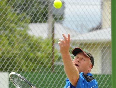 DOMINANT: Chad Parsons won the singles and doubles titles.