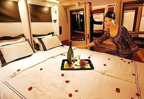 First Class sleeping on Singapore Airlines.