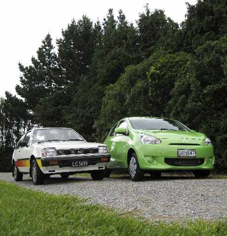 A 1983 Mirage Panther and a 2013 Mirage. How times have changed.