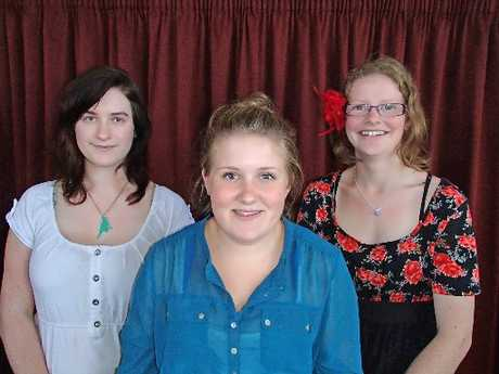ACADEMIC CHAMPS: Rangitikei College scholarship winners (from left) Sophie Tasker, Renee Brady and Holly Osten. PHOTO/SUPPLIED