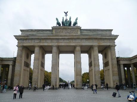 SPLENDID: The grand Brandenburg Gate on Avenue Unter den Linden.