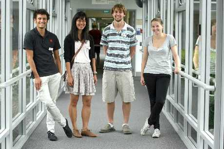 NEWBIES: A new group of fifth year medical students taking part in the rural immersion programme in Wairarapa. From left, John Fernando, Tina Chiang, Riley Riddell and Jessica Hunter.