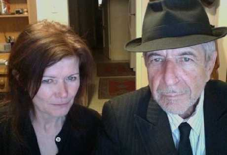COLLABORATION: Acclaimed music writer Sylvie Simmons and Leonard Cohen.