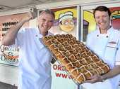 An earthquake-damaged bakery has won the first Great New Zealand Hot Cross Bun Competition.
