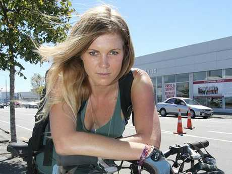 LOVE LOST: Rire Norman, 34, was angry after she returned from Queenstown to find her Toyota Hilux Surf stolen last week. A cycle is now her only means of transport.