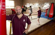 Michael Betros back coaching boxing at the Toowoomba PCYC.