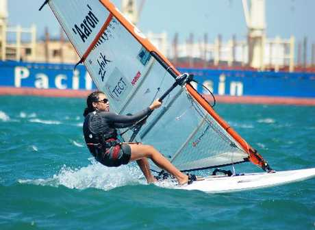 Coral Headey won the Girls Under-17 title at the Windsurfing National Championships held in Auckland.