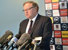 DON McLardy yesterday stood down from the presidency of the embattled Melbourne Football Club.