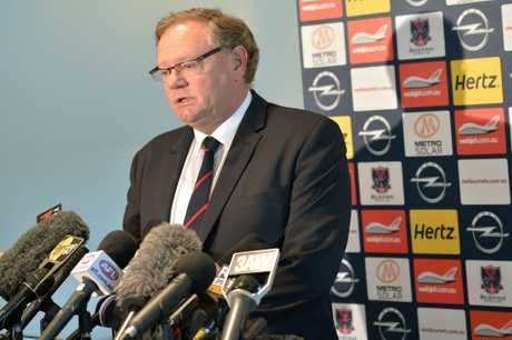 Melbourne Football Club President Don McLardy speaks to the media at an AFL press conference at Melbourne Cricket Ground on February 19, 2013 in Melbourne, Australia.