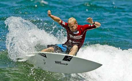 LENNOX HEAD surfer Stu Kennedy cashes in on a wave during the final minute of his heat to progress to the second round of the Newcastle Surfest at Merewether Beach. Another Lennox Head surfer, Stephanie Single, has progressed to the womens round of 24 after she beat World Championship Tour surfer Alana Blanchard in her second round heat. Far North Coast surfers James Wood, Garrett Parkes, Kirby Wright and Cali McDonagh also competed. Parkes was in good form early scoring 15.16 (out of a possible 20) in his heat on Monday.