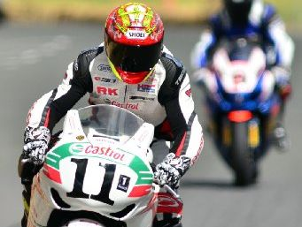 Whakatane rider Tony Rees in action at the Battle of the Streets race in Paeroa. 