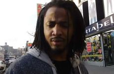 A screenshot from a YouTube video asking people from Harlem what they think about Harlem Shake.