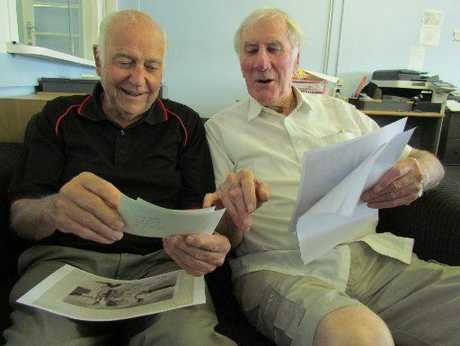 ROB Sturmer and Jack Jeffares (right) go down memory lane on past projects and the people involved.