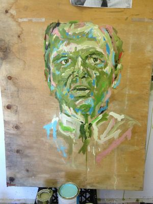 Artist Erin Smith's painting of Paul Pisasale. Photo: Contributed