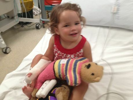 Ella Bach made a quick recovery in Toowoomba hospital after her brush with a deadly snake.