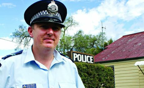 Senior Constable Nathan Burnett is the new policeman out at Yangan.