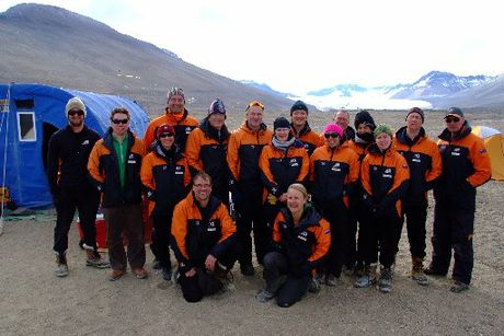 Prime Minister John Key with the Antarctica New Zealand team in the Dry Valleys region.