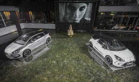 Sime Darby floated these Citroen DS3 and DS5 models in the water feature in the Sofitel Hotel at Auckland's Viaduct Basin.