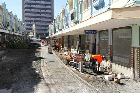 HISTORIC: Repair work in New Regent St is soon to be completed.
