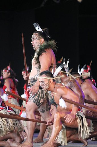 Manaia leader Eraia Kiel leads from the front during his groups performance.
