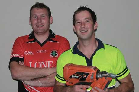 IRISH EYES ARE SMILING: Edmund Cullinane (left) and John McAnespie are two Irishmen enjoying both working in the earthquake rebuild and the Kiwi lifestyle.
