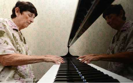 BLAST SURVIVOR: Pianist Kath McGrath is a survivor of the 1943 Goodna bomb blast at the former St Patrick's Convent School.
