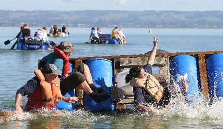 The Young Farmers Club Raft Race is a fun day for all.