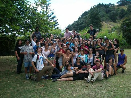 Rotorua Lakes High School Year 13 students enjoy their 2013 camp in Ohope.