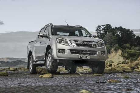 The Isuzu D-Max handles a full one-tonne load but would benefit from better tie-downs.