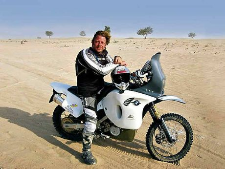 SOME WHEEL FUN:Charley Boorman.