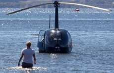 240213sp8 Helicopter emergency landing in Lake Rotorua.
